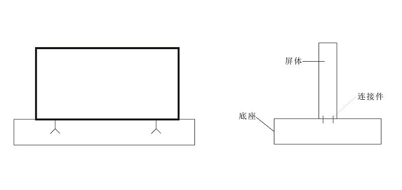 LED大屏幕安装示意图